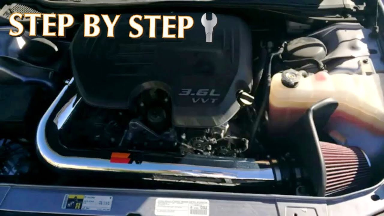 How To Install K Amp N Cold Air Intake Dodge Challenger Step