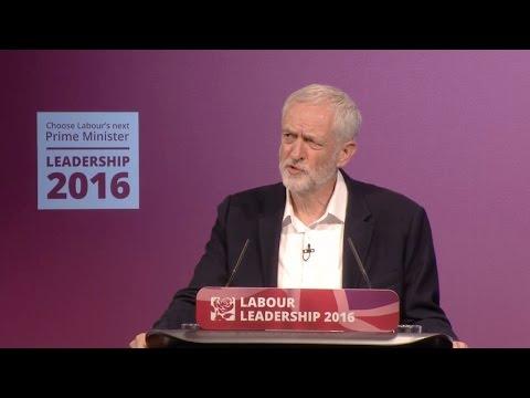 Jeremy Corbyn & Owen Smith clash during UK Labour Party leadership debate in Birmingham