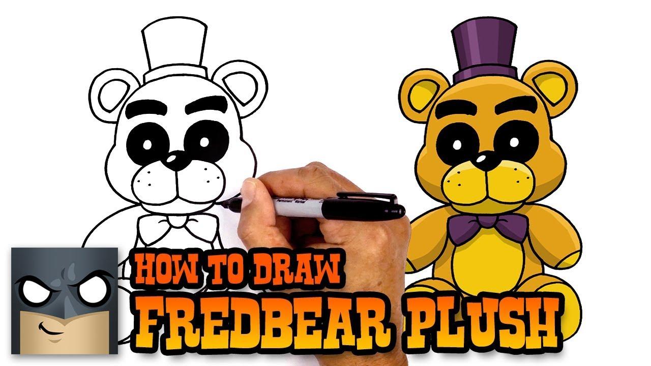 How to Draw Fredbear Plush | FNAF