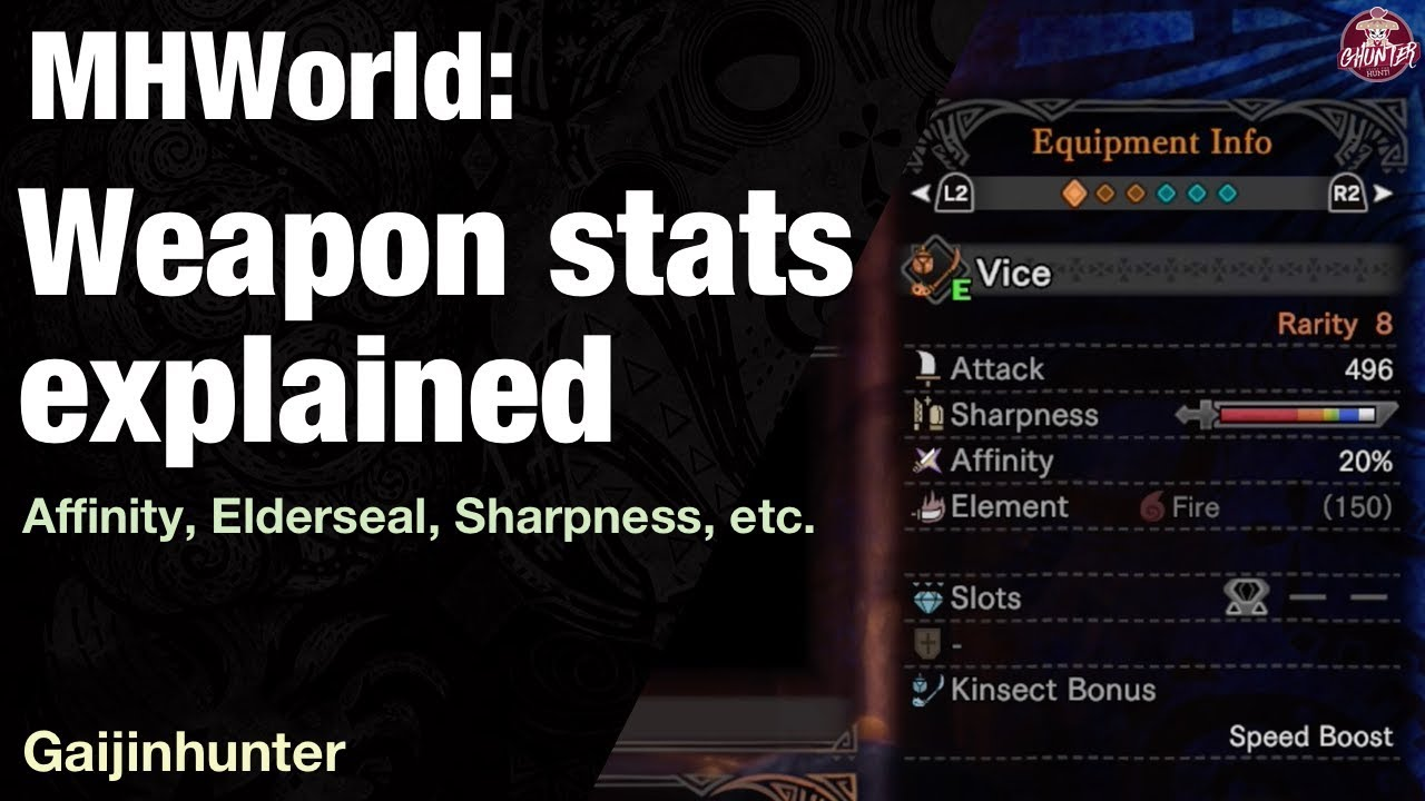 Monster Hunter World: Weapon Stats Explained