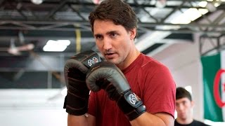 Justin Trudeau shows off his stuff in the ring