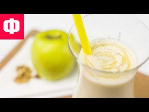 Коктейль из яблока и банана в блендере