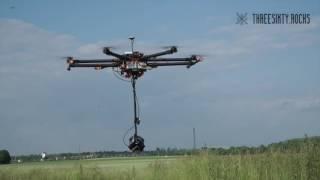360 grad Kamera mit Drohne Testflug