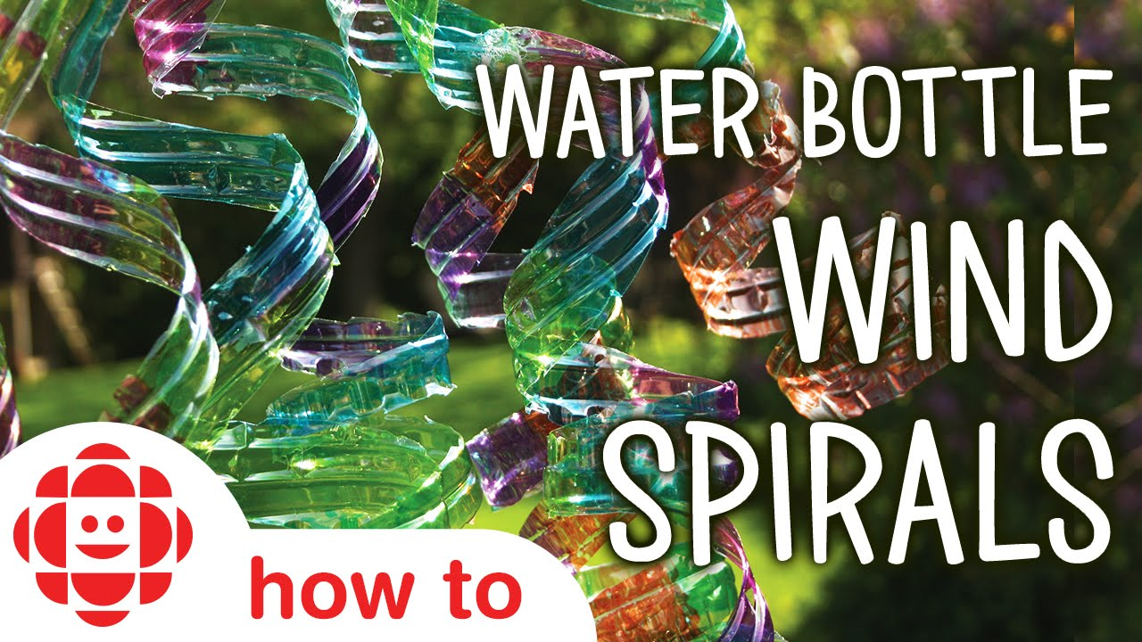 Diy Water Bottle Wind Spirals Monkey Makes Crafts For