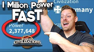 Gaining 1 Million Power in 15 Minutes | Boost Session | Rise of Civilizations