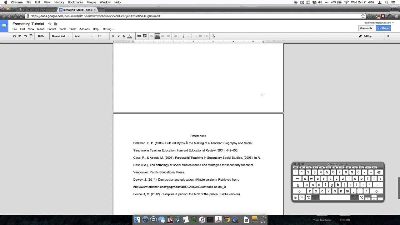 how to do apa format on google docs 1. Google Docs APA Formatting (Mac) - YouTube