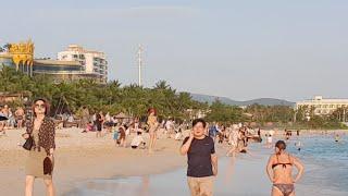 Китай. Погода на Хайнане сегодня. Санья. Пляж Дадунхай