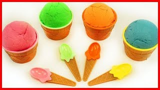 冰淇淋杯動力沙太空沙驚喜出奇蛋玩具,學英語認顏色