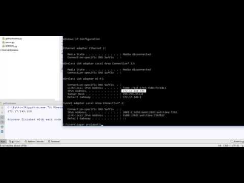 How to find IP address from Python in English