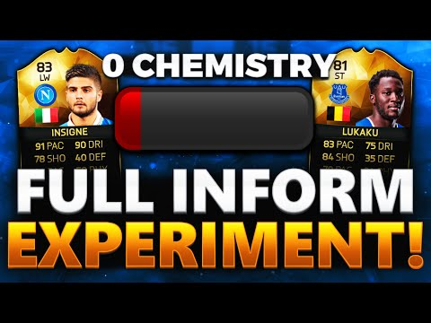 0 CHEMISTRY FULL INFORM SQUAD EXPERIMENT!!! FIFA 16 ULTIMATE TEAM