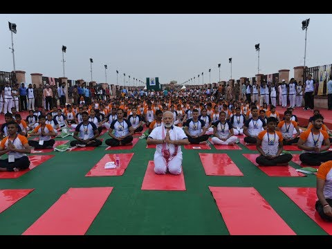 PM Modi at Mass Yoga Demonstration on the occasion of International Yoga Day in Lucknow