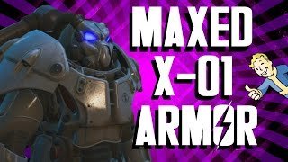 Fallout 4 - Maxed X-01 Power Armor Setup and Gameplay