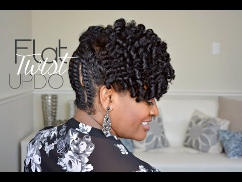 103 Simple Flat Twist Updo On Natural Hair Youtube