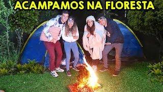 PASSAMOS A NOITE NA FLORESTA! - (ACAMPAMENTO) - KIDS FUN