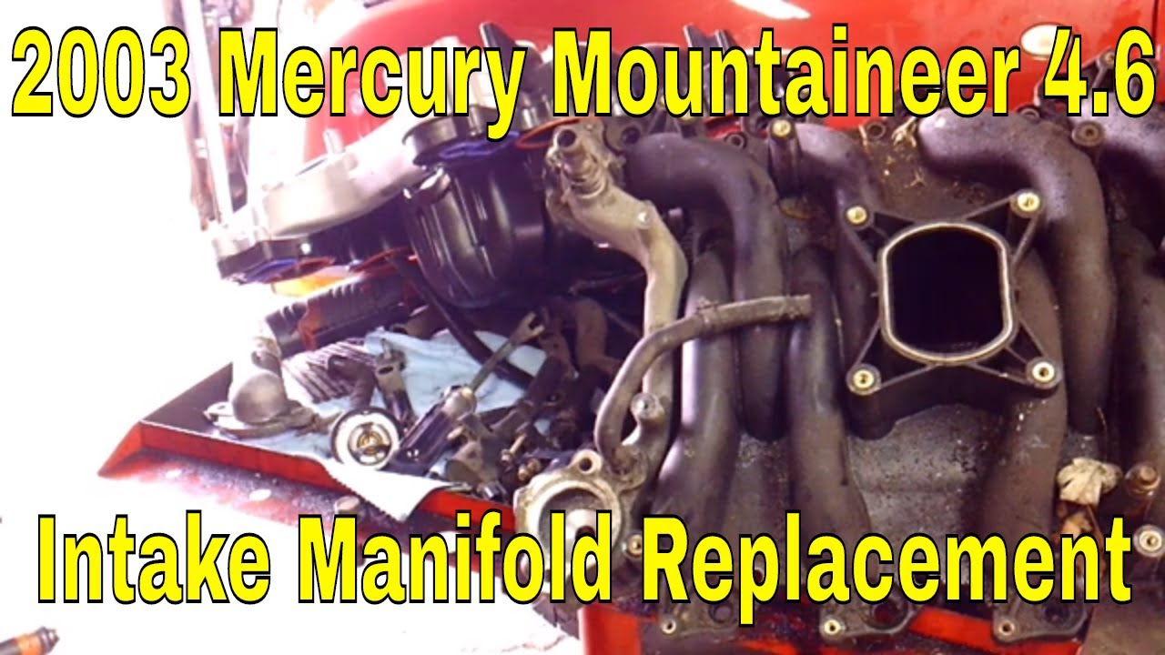 2003 Mercury Mountaineer Ford Explorer Intake Manifold Replacement 4 8 V8 Youtube