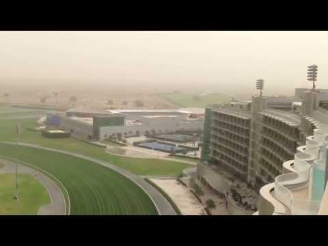 Meydan Hotel Rooftop View Over Meydan Racecourse Dubai