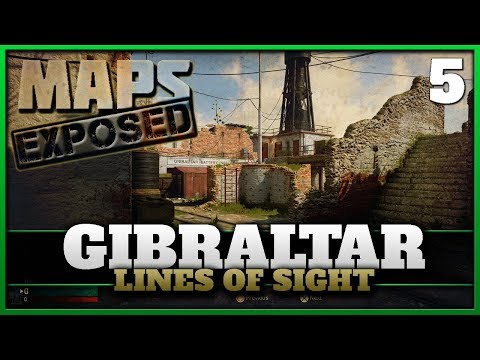 Gibralter Lines of Sight & Secret Spots! | Cod WW2 Maps Exposed #5