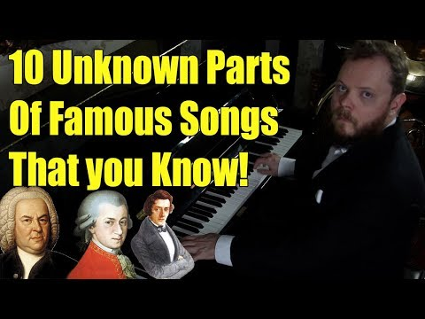 10 Unknown Parts of Songs That you Know! Can you recognize them?