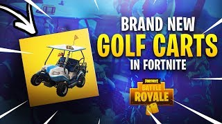 NEW GOLFCART VEHICLE IN FORTNITE! HOLDS AN ENTIRE SQUAD!