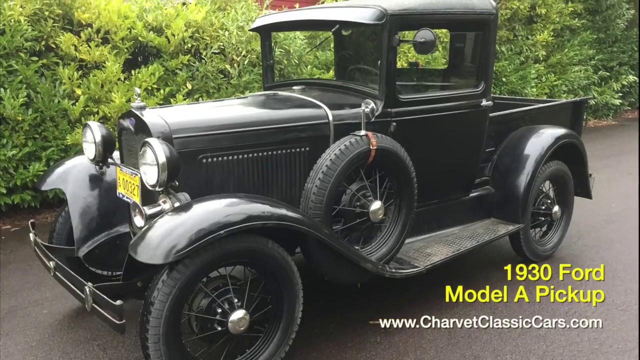 1930 Ford Model A Pickup. Charvet Classic Cars - YouTube