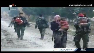 Journal de Syrie 18/1/2015 ~ L'Aarmée Syrienne assure la sortie de mille citoyens de Douma