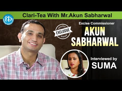 Suma Kanakala Interview with Director of Excise Akun Sabharwal || Clari-Tea With Mr.Akun Sabharwal