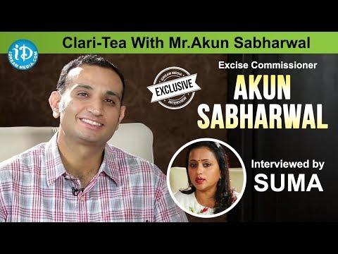 Suma Kanakala Interview with Director of Excise Akun Sabharwal || Clari-Tea With Mr.Akun Sabharwal