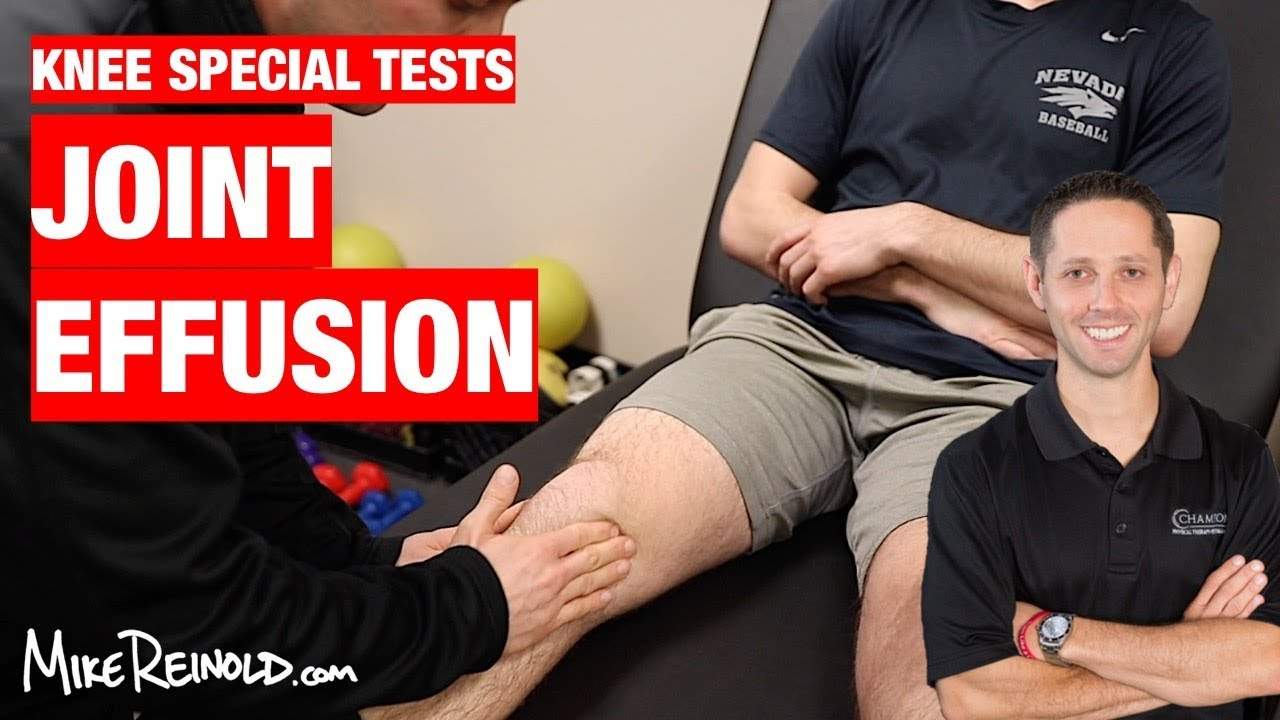 Knee Joint Line Effusion Special Test - YouTube