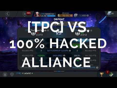 Alliance War #4 Facing A 100% Modded Alliance - Marvel Contest Of Champions