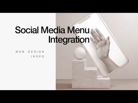 SOCIAL MEDIA MENU Integration // Web Design Inspiration #TemplateMonster
