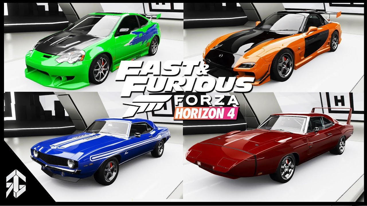 fast and furious 1 8 all cars in forza horizon 4 youtube. Black Bedroom Furniture Sets. Home Design Ideas