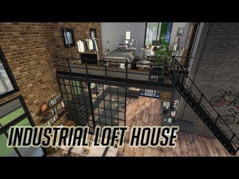 The Sims 4|심즈4 건축|인더스트리얼 로프트 하우스|Industrial Loft House|Speed Build