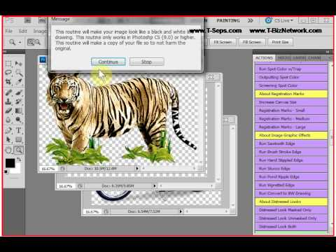 T-Seps Convert Colored Image to Black and White Drawing