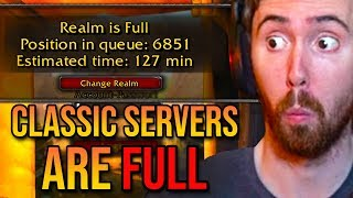 Asmongold Reacts To Classic WoW Servers Already Being Full & Level 120 Boost - Bellular