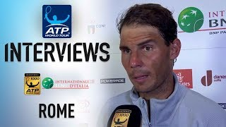 Nadal Happy To Get Through 'Tough Battle' Against Djokovic In Rome 2018