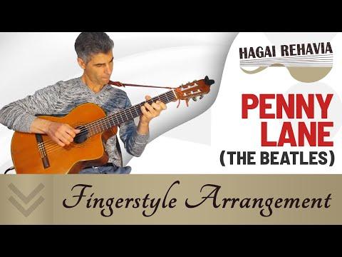 Penny Lane (Beatles)-solo Guitar arrangement by Hagai Rehavia
