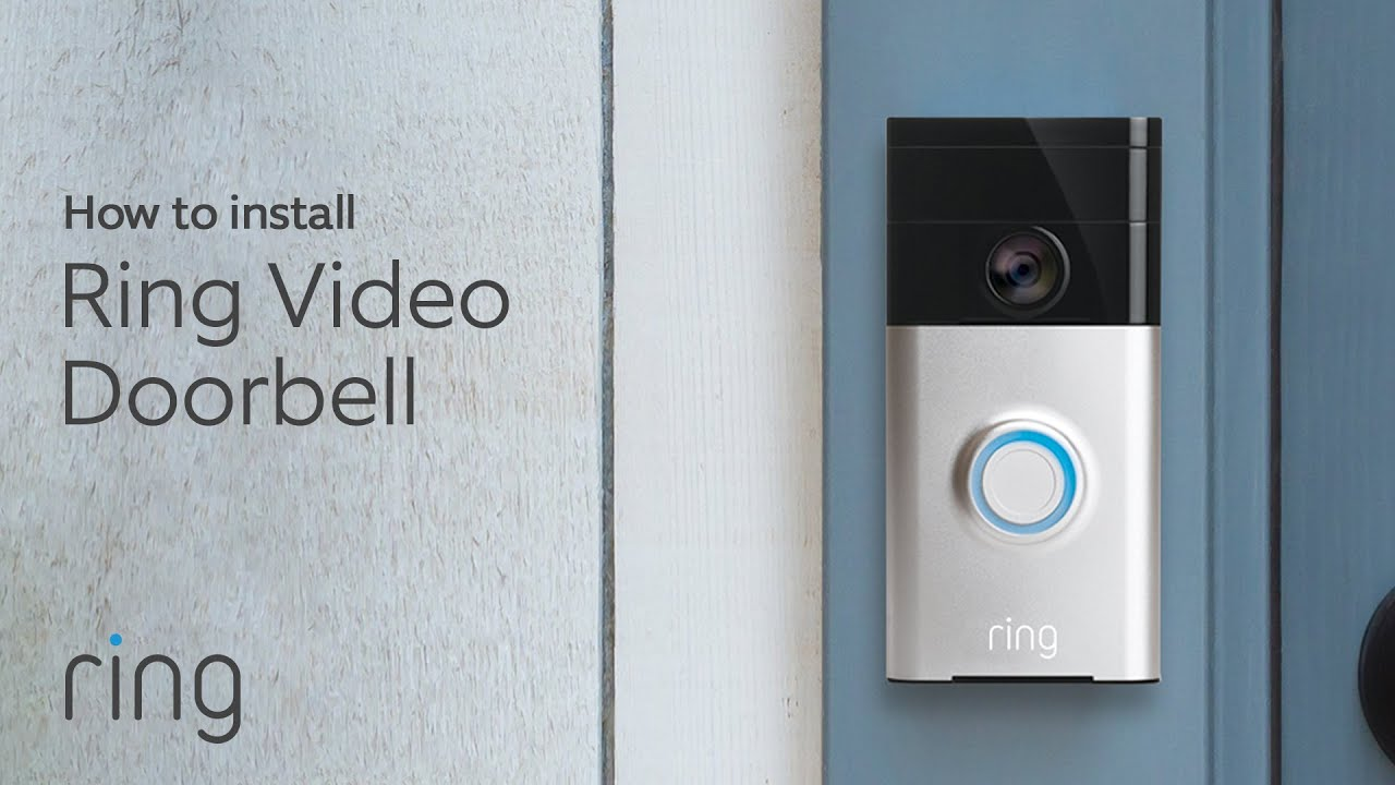 How To Replace A Wired Doorbell With Ring Video Doorbell Diy Install Youtube