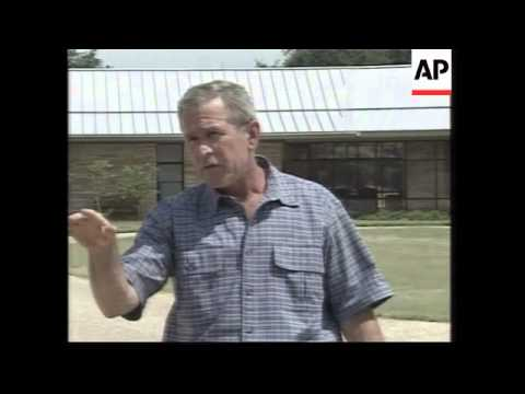 Bush and Rumsfeld meet at Texas ranch