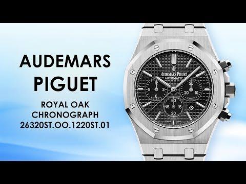 Audemars Piguet ROYAL OAK CHRONOGRAPH 26320ST.OO.1220ST.01 41 MM Black Dial Stainless Steel Watch 