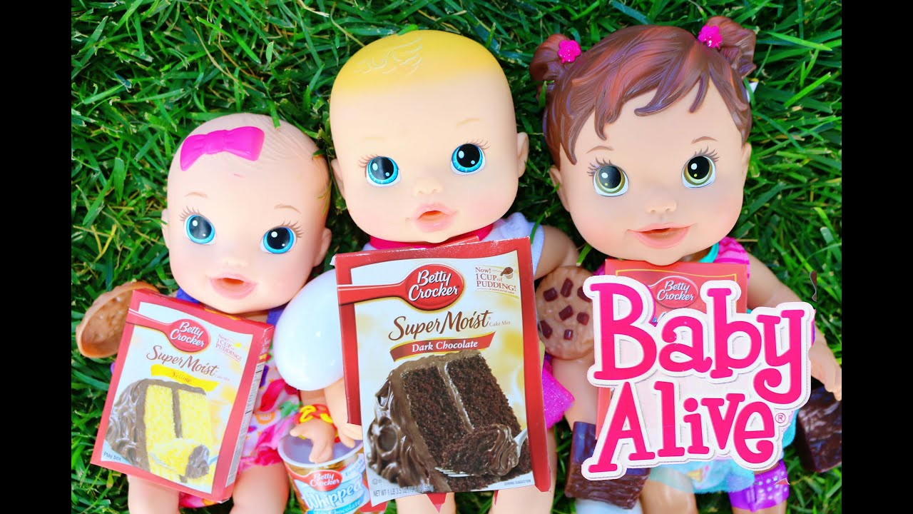 Baby Alive Dolls Review Betty Crocker Toy Set Youtube