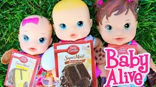 Baby Alive Dolls Bake A Cake Baby Alive babies Boo Boo Doctor, Birthday & Surprise Diaper Baby
