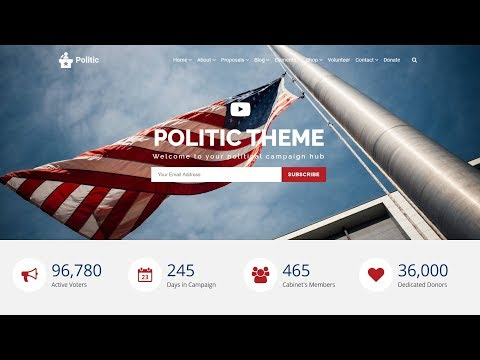 Politic WordPress Theme - Responsive Political Campaign Website Builder thumbnail