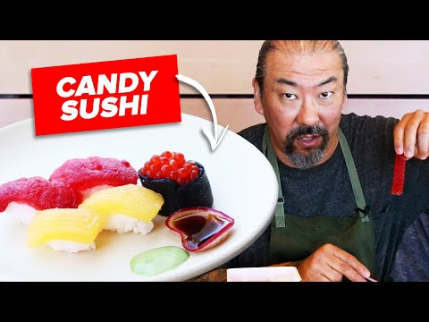 Master Sushi Chef Makes Sushi Candy