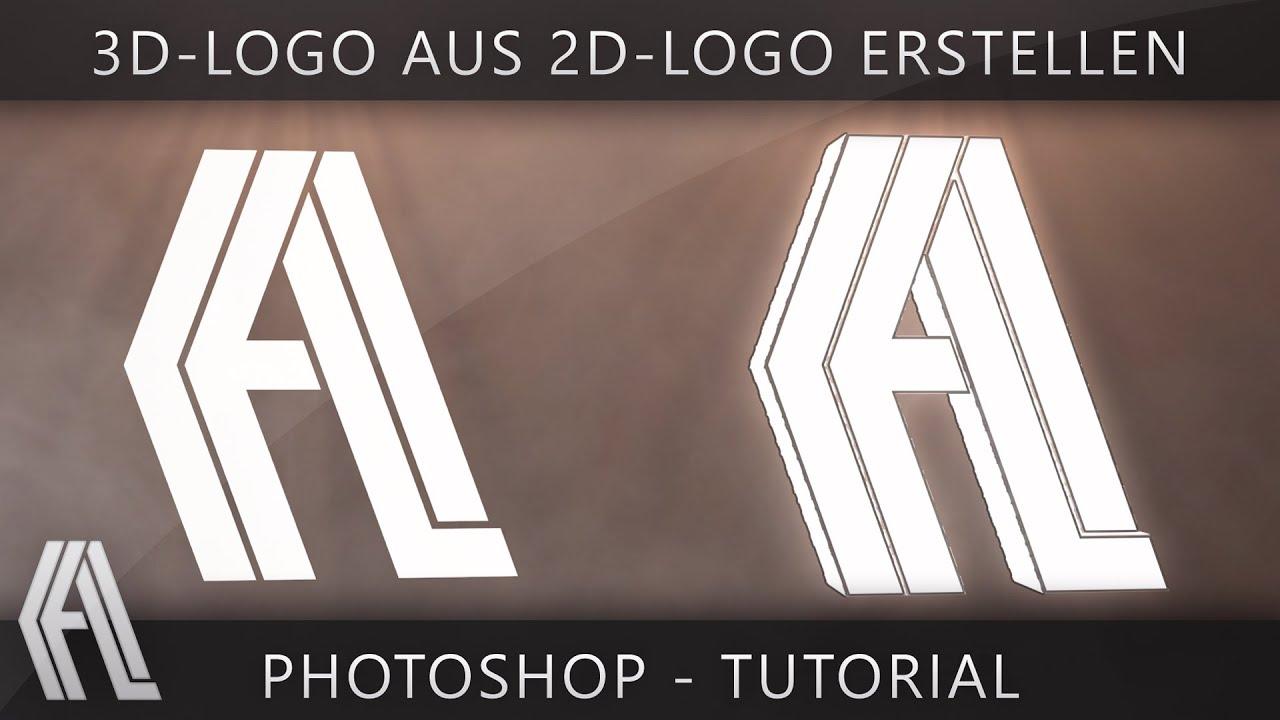 3d Logo Aus 2d Logo Erstellen Photoshop Tutorial German Youtube
