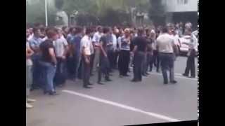 Mingəçevirdə polislə əhali arasında toqquşma - şəhər sakinin polis idarəsində öldürülübmü?