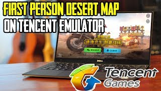 Chinese PUBG Mobile ON TENCENT EMULATOR ! First Person + War Mode