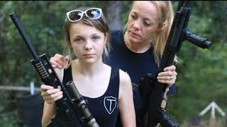 25 girls shooting full auto ar15 m16 m60 ak47 and heavy machine guns