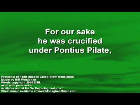 Profession of Faith (Nicene Creed) NEW WORDS by Bill Monaghan LYRIC VIDEO