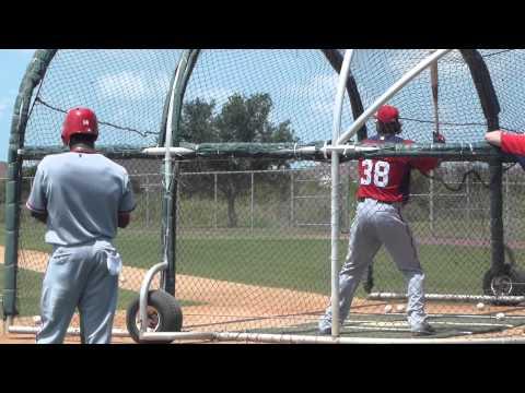 Michael Morse Batting Practice Viera, FL 05-26-2012.MTS