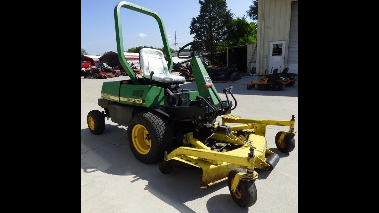 Garden Tractor Without Mower Deck : Used john deere f lawn tractor quot deck hp diesel